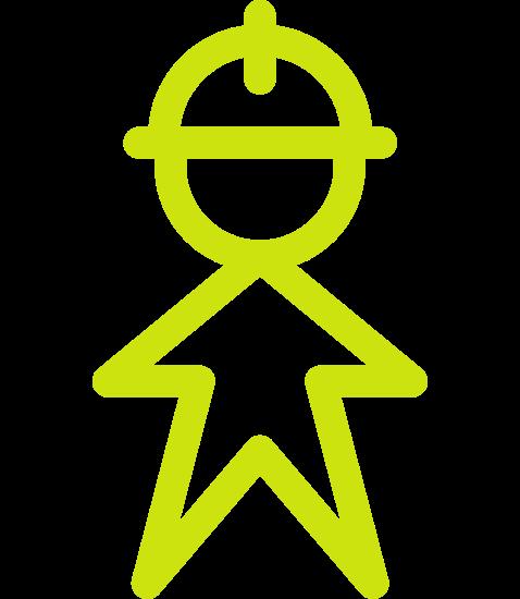 employee with helmet